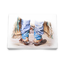 Load image into Gallery viewer, Art Card: Cowboy Boots - Ready to Rodeo - by Artist Clare Hobson