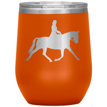 Load image into Gallery viewer, Wine Tumbler - Dressage Extended Trot - Orange
