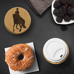 Cork Coasters: Dressage Canter Pirouette - for your coffee table