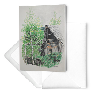 Barnscape Cards: Highroad History Old Barn | Color Pencil Artist Clare Hobson