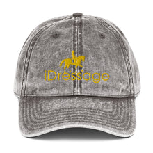 Load image into Gallery viewer, Vintage Cotton Twill Cap - iDressage Gold Jean Gray