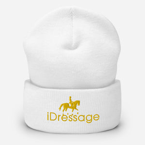 Stay warm with this exclusive iDressage Beanie - shown in White