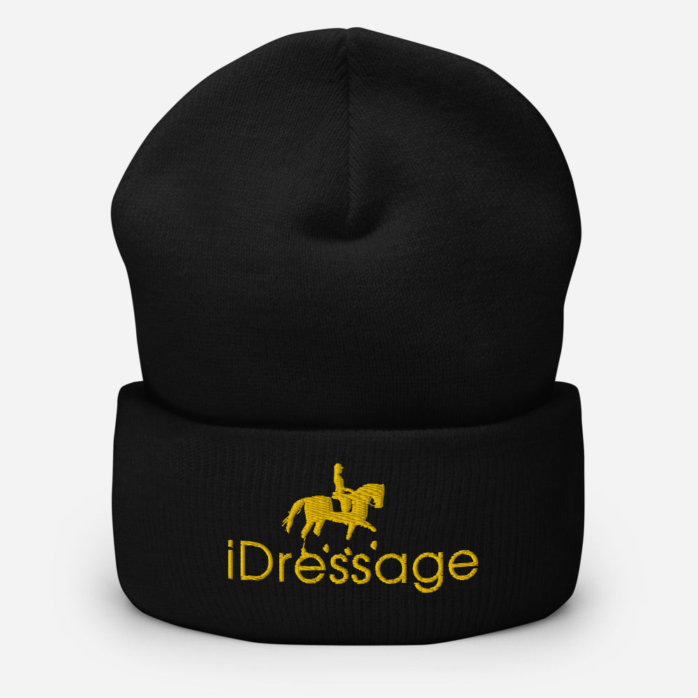 Stay warm with this exclusive iDressage Beanie - shown in black