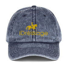 Load image into Gallery viewer, Vintage Cotton Twill Cap - iDressage Gold on Jean Navy