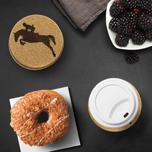 Protect your table with an Equestrian Themed Cork Coaster