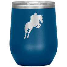 Load image into Gallery viewer, Wine Tumbler - Jumper Classic Clear Round Class - Blue