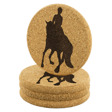 Load image into Gallery viewer, Cork Coasters: Dressage Canter Pirouette set of 4