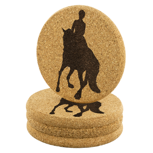Cork Coasters: Dressage Canter Pirouette set of 4