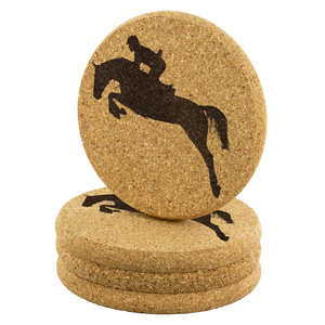 Cork Coasters: Jumper Form Set of 4