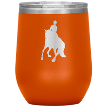 Load image into Gallery viewer, Wine Tumbler - Dressage Canter Pirouette - Orange
