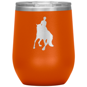 Wine Tumbler - Dressage Canter Pirouette - Orange