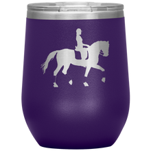 Load image into Gallery viewer, Wine Tumbler - Dressage Collected Trot - Purple