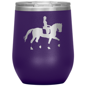 Wine Tumbler - Dressage Collected Trot - Purple