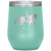 Load image into Gallery viewer, Wine Tumbler - Dressage Collected Trot - Teal