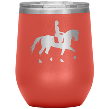 Load image into Gallery viewer, Wine Tumbler - Dressage Collected Trot - Coral