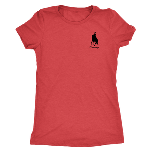 Tee Shirt Womens Triblend: iDressage Horse Graphic - Vintage Red
