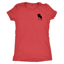 Load image into Gallery viewer, Tee Shirt Womens Triblend: Just Jump It - Vintage Red