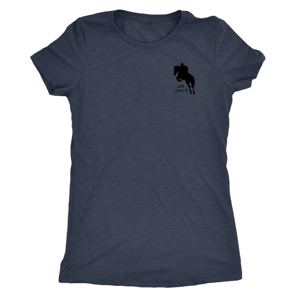 Tee Shirt Womens Triblend: Just Jump It - Vintage Navy
