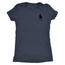 Load image into Gallery viewer, Tee Shirt Womens Triblend: iDressage Horse Graphic - Vintage Navy