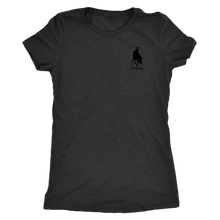 Load image into Gallery viewer, Tee Shirt Womens Triblend: iDressage Horse Graphic - Vintage Black