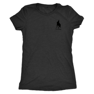 Tee Shirt Womens Triblend: iDressage Horse Graphic - Vintage Black
