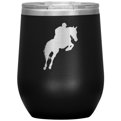 Wine Tumbler - Jumper Classic Clear Round Class - Black