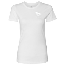 Load image into Gallery viewer, T-Shirt for Women - iDressage Series Collected Trot - White