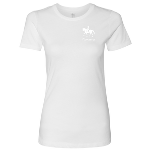 T-Shirt for Women - iDressage Series Collected Trot - White