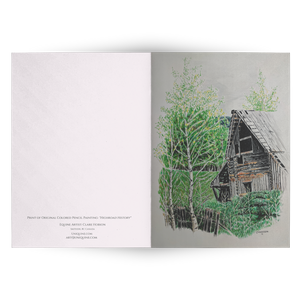 Greeting Cards: Highroad History Old Barn | Blank Inside so you can write your special message