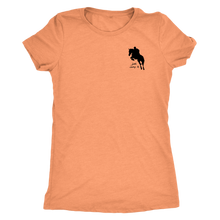 Load image into Gallery viewer, Tee Shirt Womens Triblend: Just Jump It - Vintage Light Orange