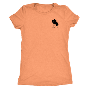 Tee Shirt Womens Triblend: Just Jump It - Vintage Light Orange