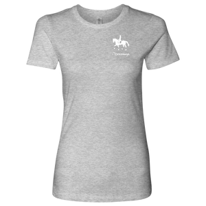 T-Shirt for Women - iDressage Series Collected Trot - Heather Grey