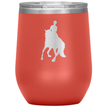 Load image into Gallery viewer, Wine Tumbler - Dressage Canter Pirouette - Coral