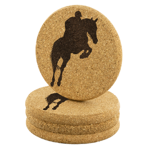 Stack of 4 Cork Coasters: Jumper Classic theme