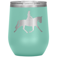 Load image into Gallery viewer, Wine Tumbler - Dressage Extended Trot - Teal