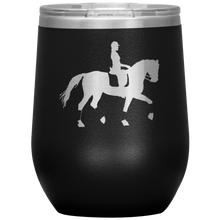 Load image into Gallery viewer, Wine Tumbler - Dressage Collected Trot - Black