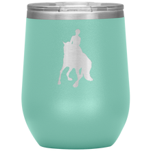 Load image into Gallery viewer, Wine Tumbler - Dressage Canter Pirouette - Teal