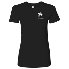 Load image into Gallery viewer, T-Shirt for Women - iDressage Series Collected Trot - Black