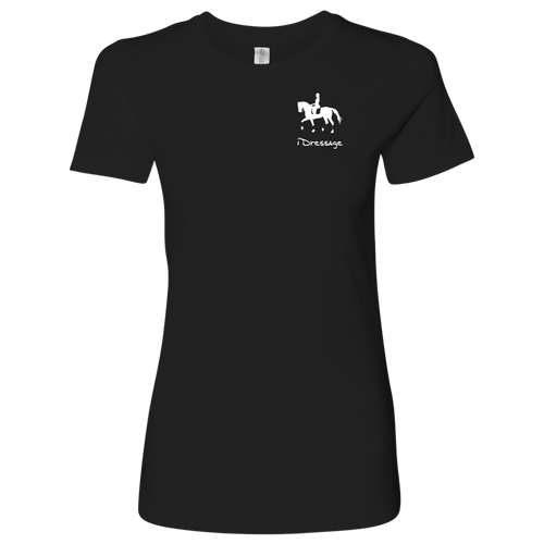 T-Shirt for Women - iDressage Series Collected Trot - Black