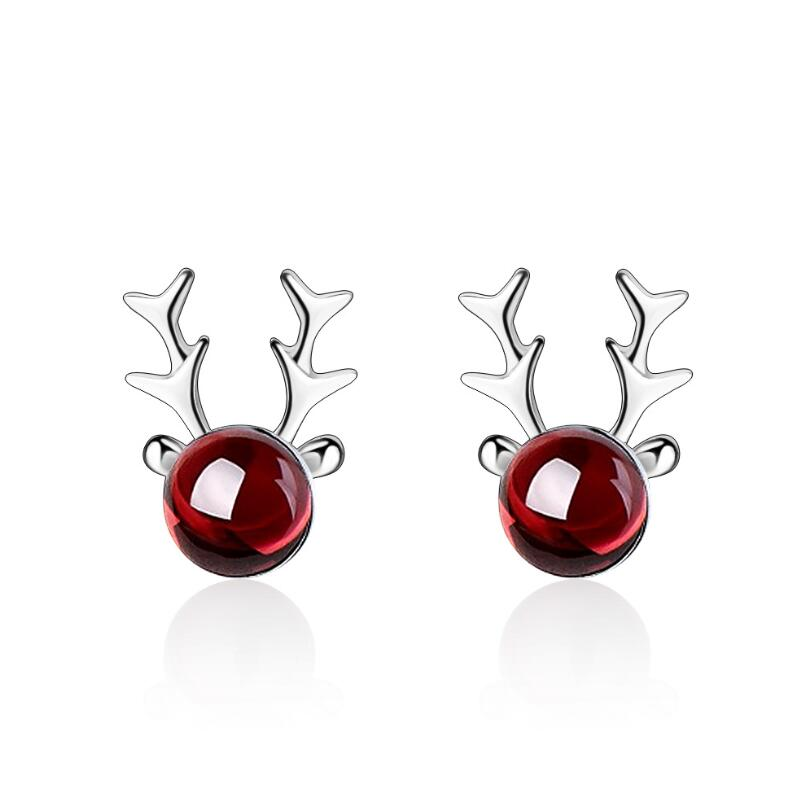 Red Elk Earrings