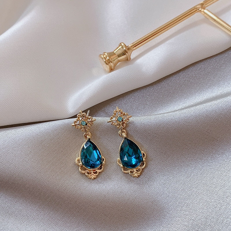"""Larme Bleue"" Earrings"
