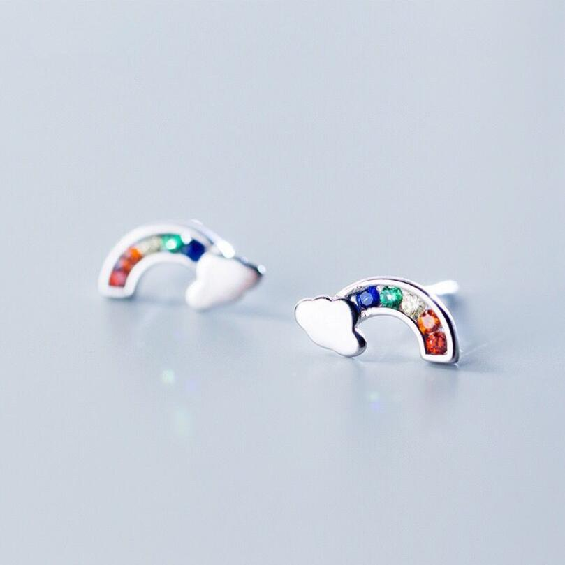Rainbow Clouds Earrings