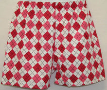 Load image into Gallery viewer, Argyle flannel boxer shorts