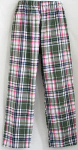 Lounge bottom Plaid Flannel 100% cotton