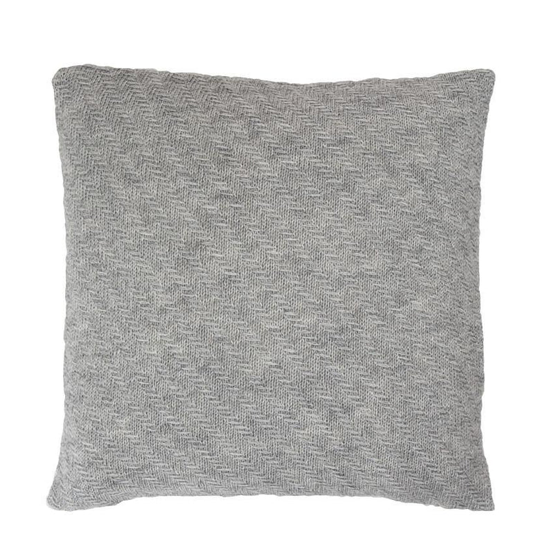 Diagonal Stripes Cushion, Light Grey