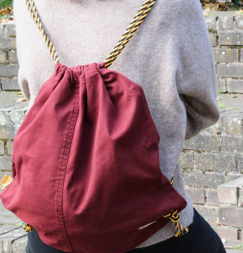 Turnbeutel Rucksack Jeans red For me