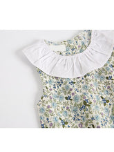 Load image into Gallery viewer, Amalia Circle Collar Floral Sleeveless Romper