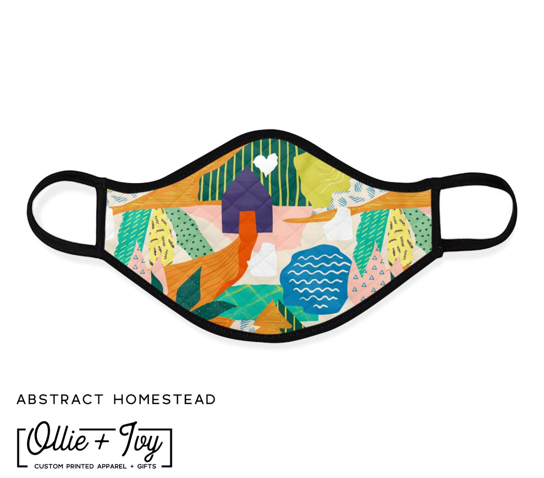 Abstract Homestead Face Mask