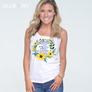Cora Bollinger Block's Sunflower Wreath Shirt