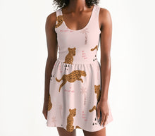 Load image into Gallery viewer, Catch Me Cheetah Scoop Neck Skater Dress